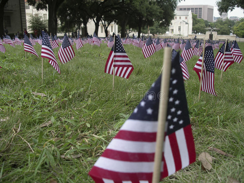 Download Flag Memorial To 9/11 Victims Stock Photo - Image: 10792990