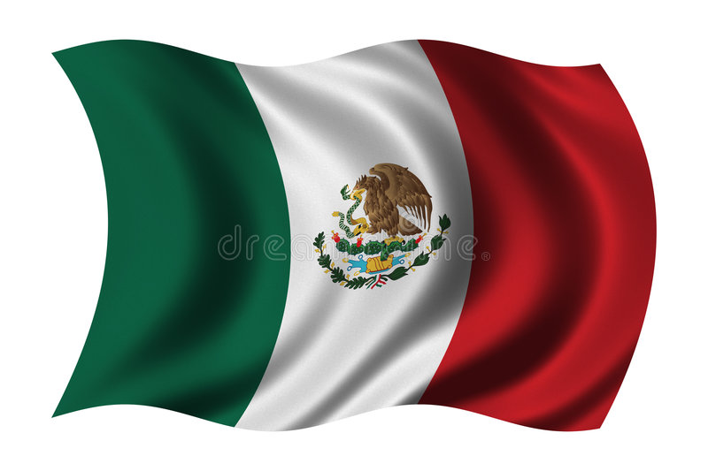 Flag of Mexico. Waving in the wind