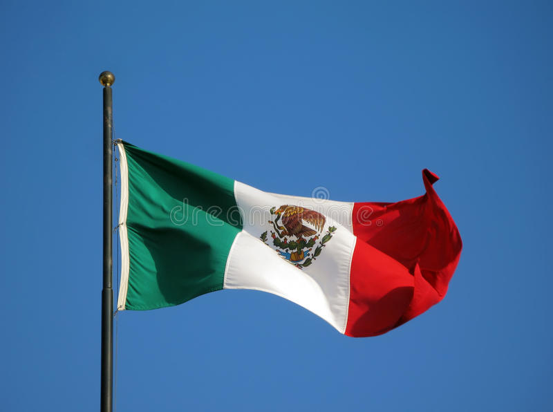 Flag of Mexico royalty free stock image