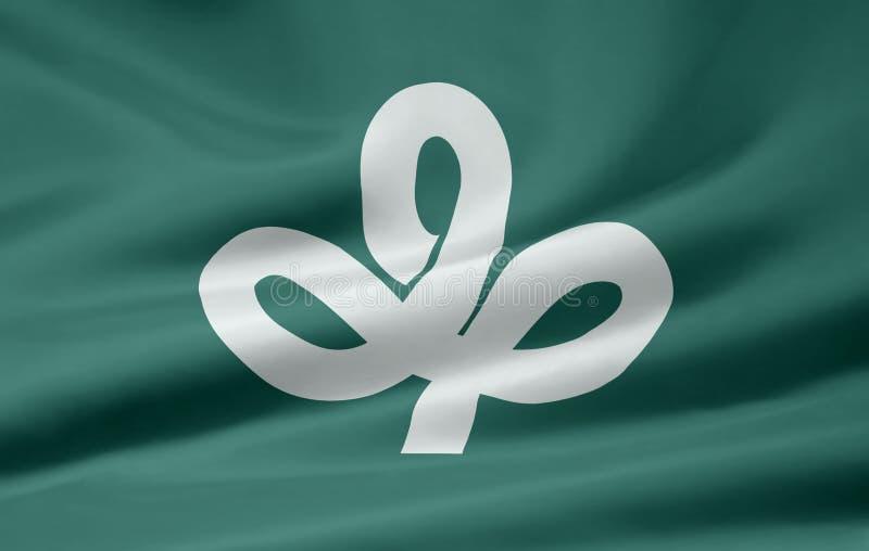 Flag of Miyagi - Japan stock images