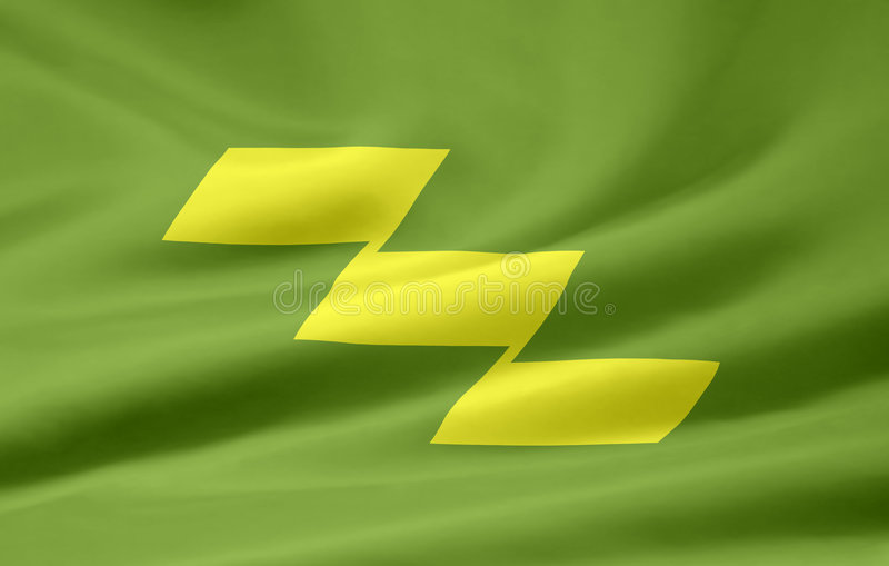 Flag of Miyazaki - Japan royalty free stock images