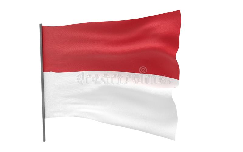 Flag of Monaco royalty free illustration