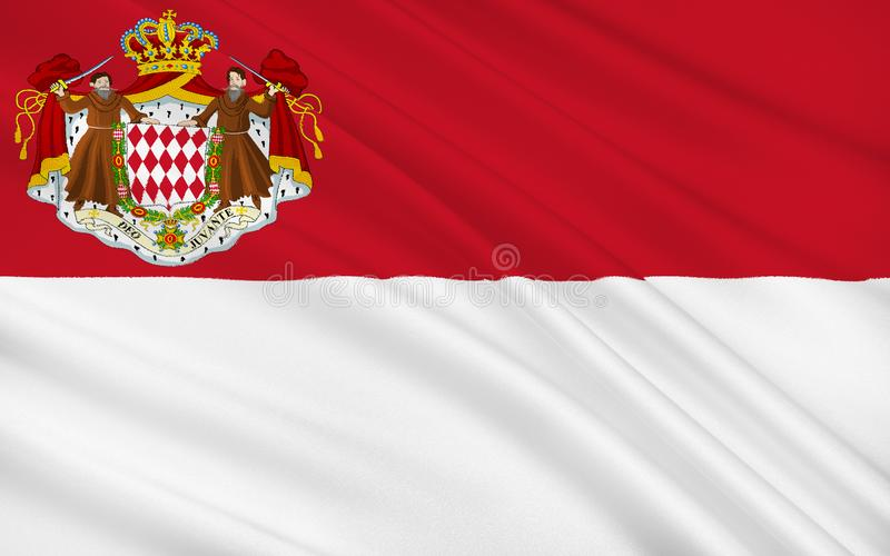 Flag of Monaco. The national flag of the Principality of Monaco has been the heraldic colors of the House of Grimaldi since at least 1339. The present design was royalty free illustration