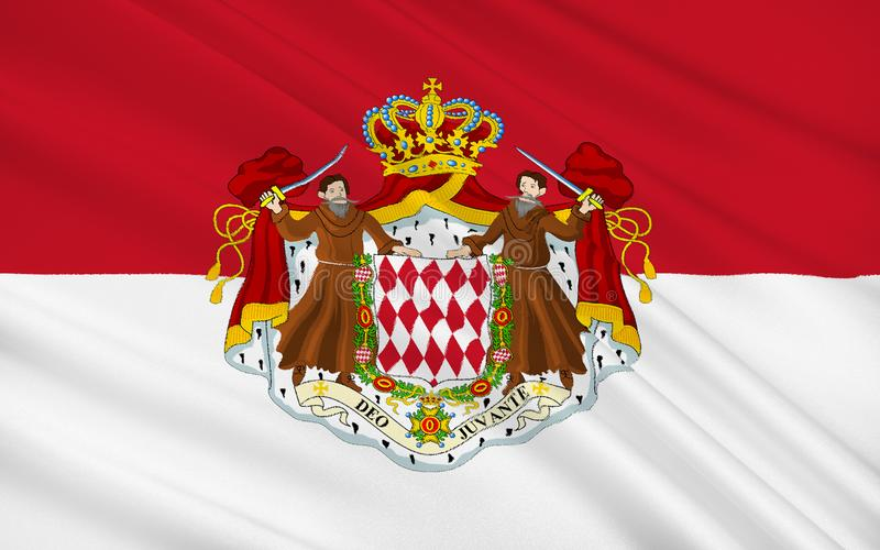 Flag of Monaco. The national flag of the Principality of Monaco has been the heraldic colors of the House of Grimaldi since at least 1339. The present design was stock illustration