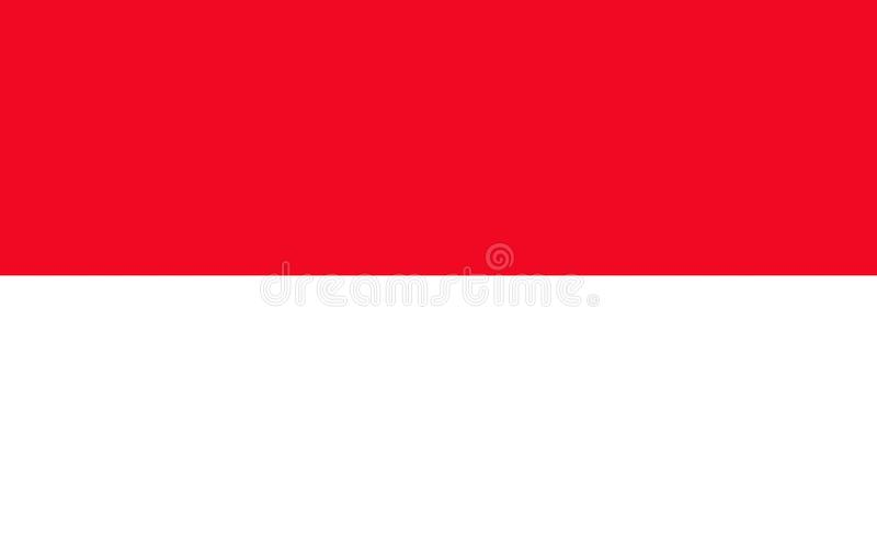 Flag of Monaco. Officially the Principality of Monaco is a sovereign city-state and microstate, located on the French Riviera in Western Europe stock illustration