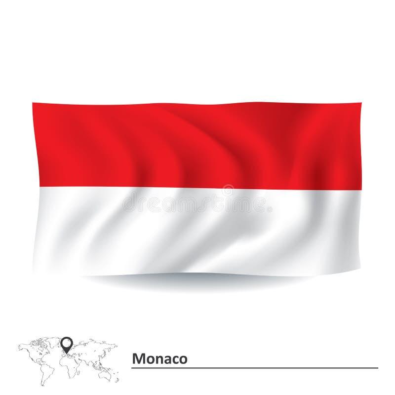 Flag of Monaco. Vector illustration vector illustration