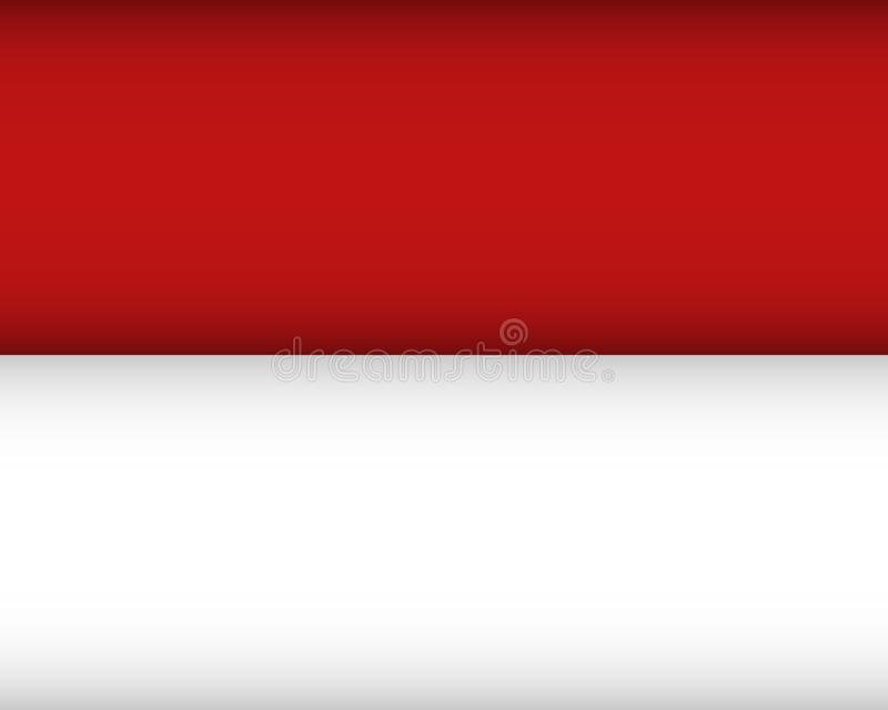 Flag of Monaco. Vector illustration. Patriotic background stock illustration