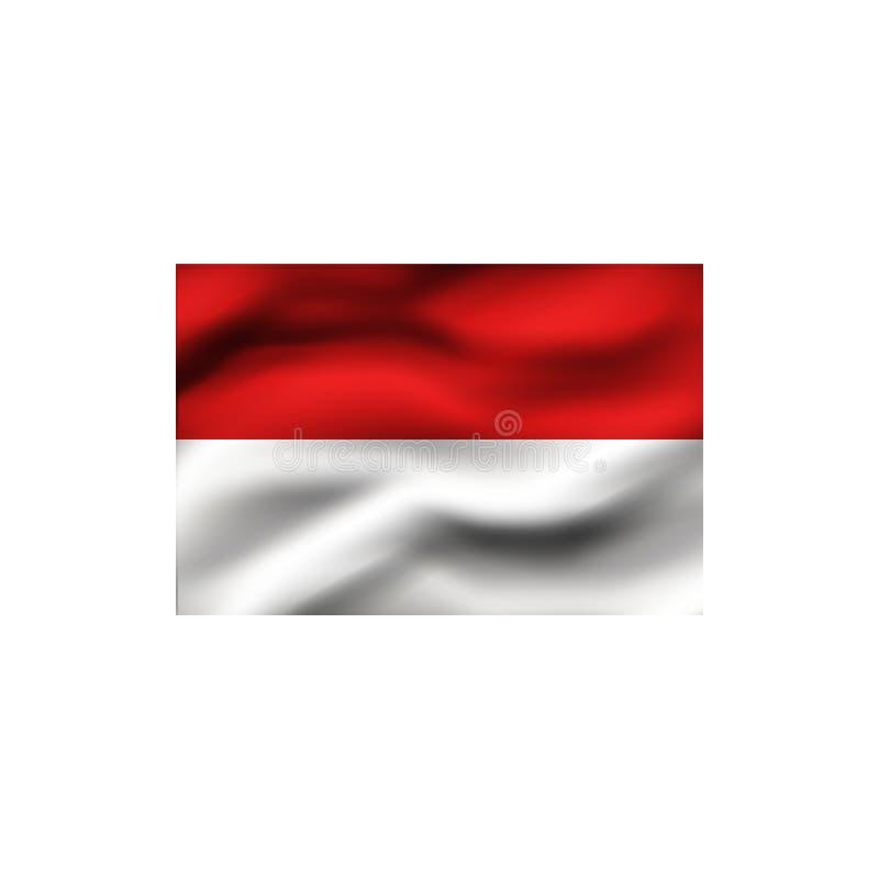 Flag of Monaco. Flag of Monaco on white background. Illustration royalty free illustration