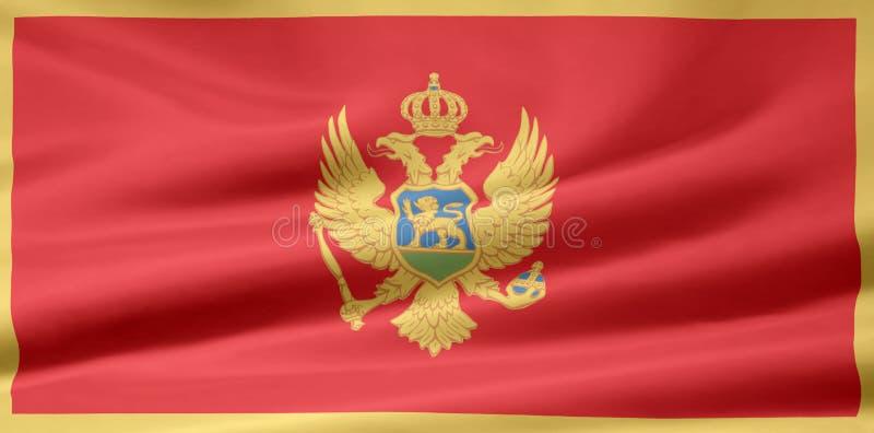 Flag of Montenegro royalty free stock image