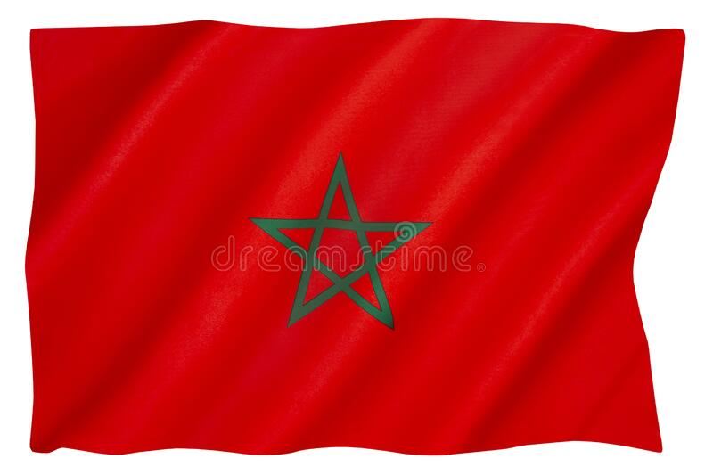 The national flag of Morocco royalty free stock image