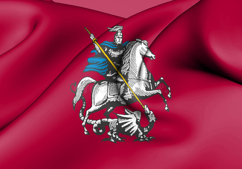 Flag of Moscow, Russia. 3d Rendered Flag of Moscow, Russia vector illustration