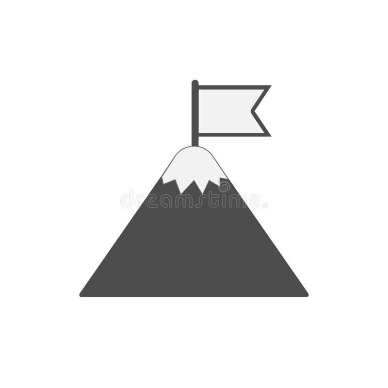 Flag on mountain. royalty free illustration