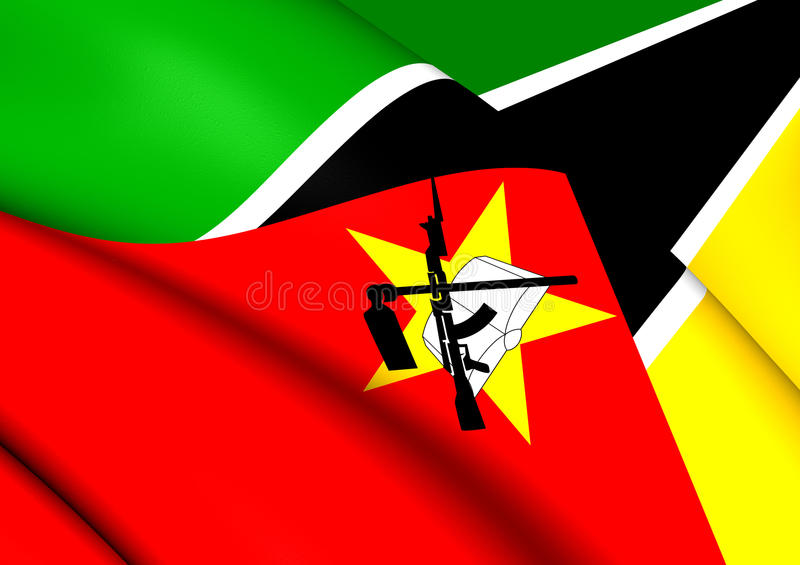 Flag of Mozambique. Close Up stock illustration