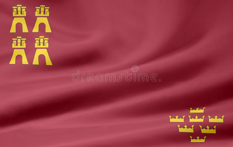 Flag of Murcia - Spain vector illustration