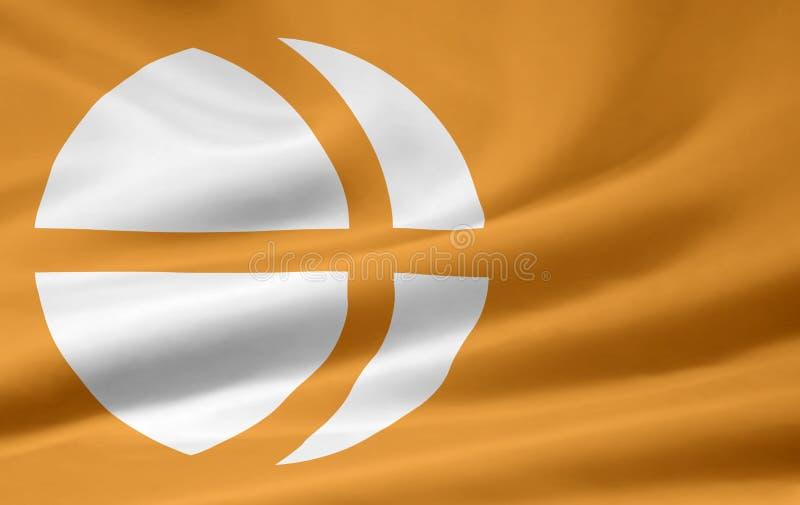 Flag of Nagano - Japan royalty free stock photos