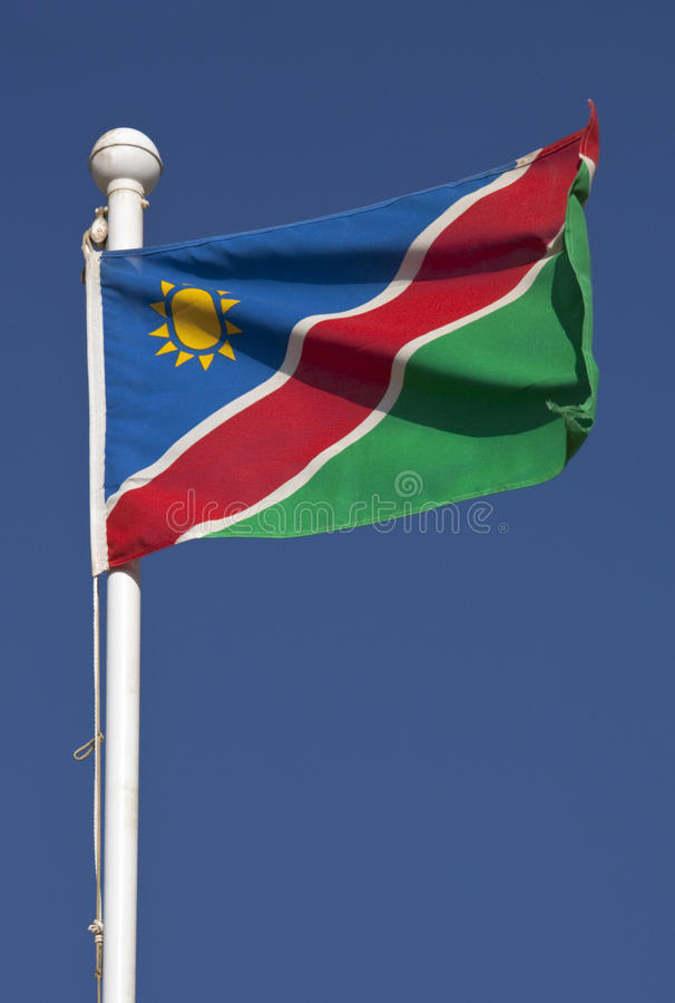 Flag of Namibia royalty free stock photo