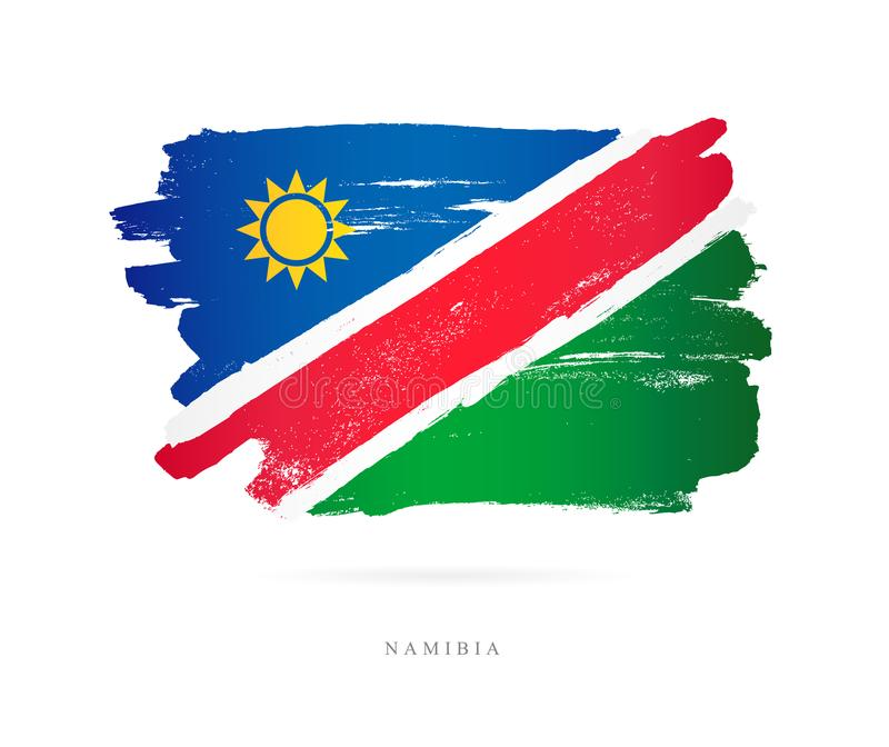 The flag of Namibia. Abstract concept vector illustration