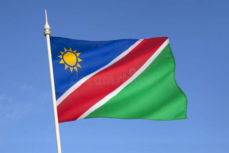 Flag of Namibia - Africa stock photo