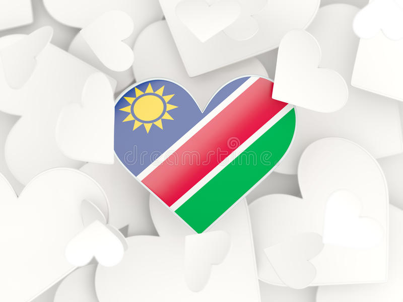 Download flag of namibia heart shaped stickers stock illustration illustration of celebration travel