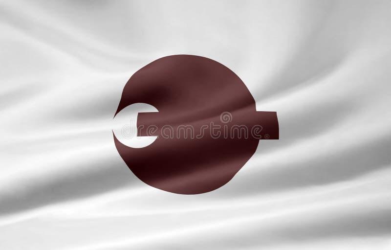 Flag of Nara - Japan royalty free stock image