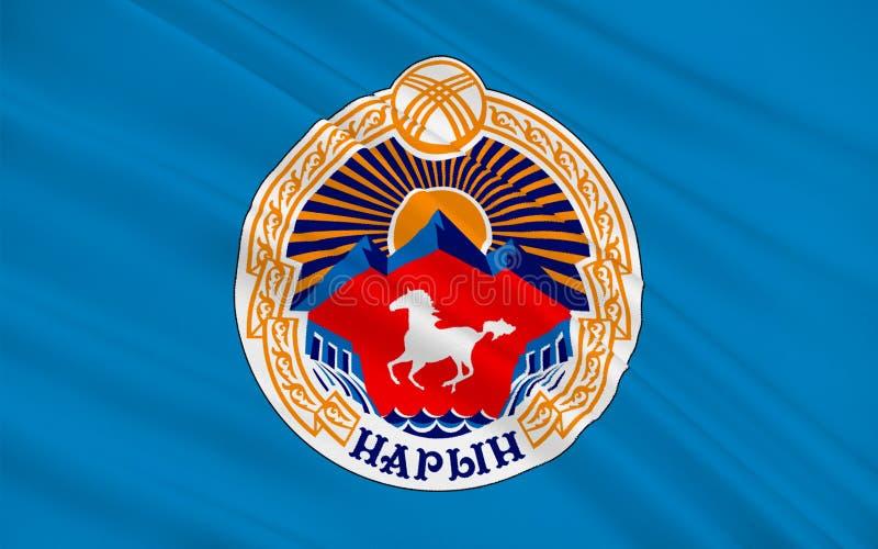 Flag of Naryn, Kyrgyzstan stock illustration