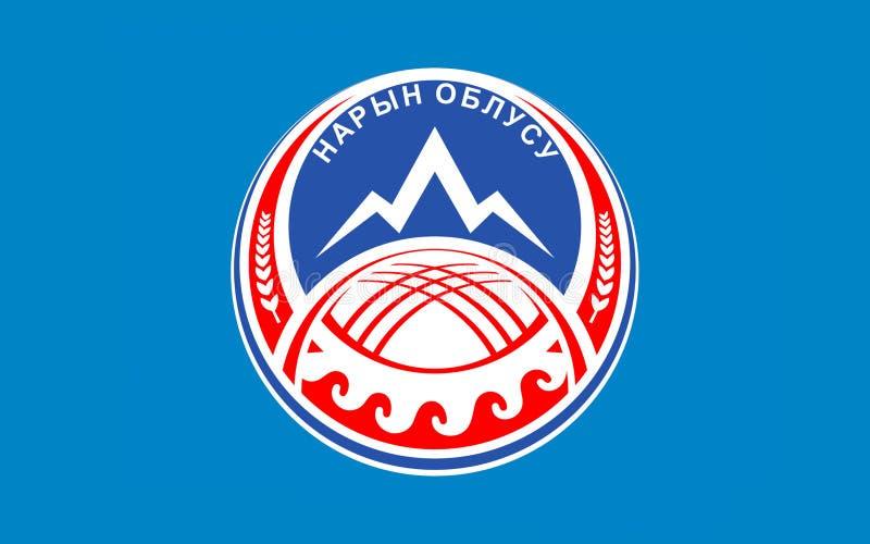 Flag of Naryn Region, Kyrgyzstan vector illustration