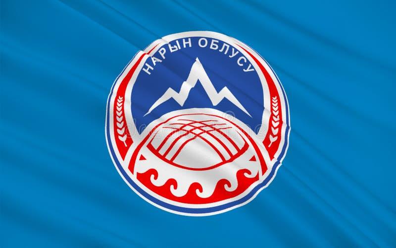 Flag of Naryn Region, Kyrgyzstan stock illustration