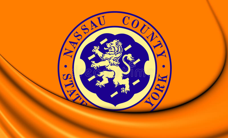 Flag of Nassau County, New York. 3D Flag of Nassau County, New York royalty free illustration