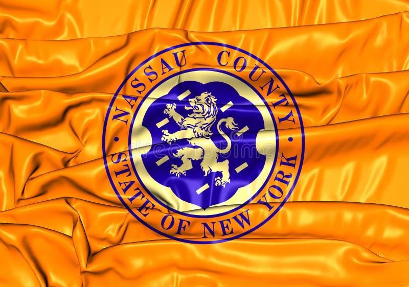 Flag of Nassau County New York, USA. 3D Flag of Nassau County New York, USA vector illustration