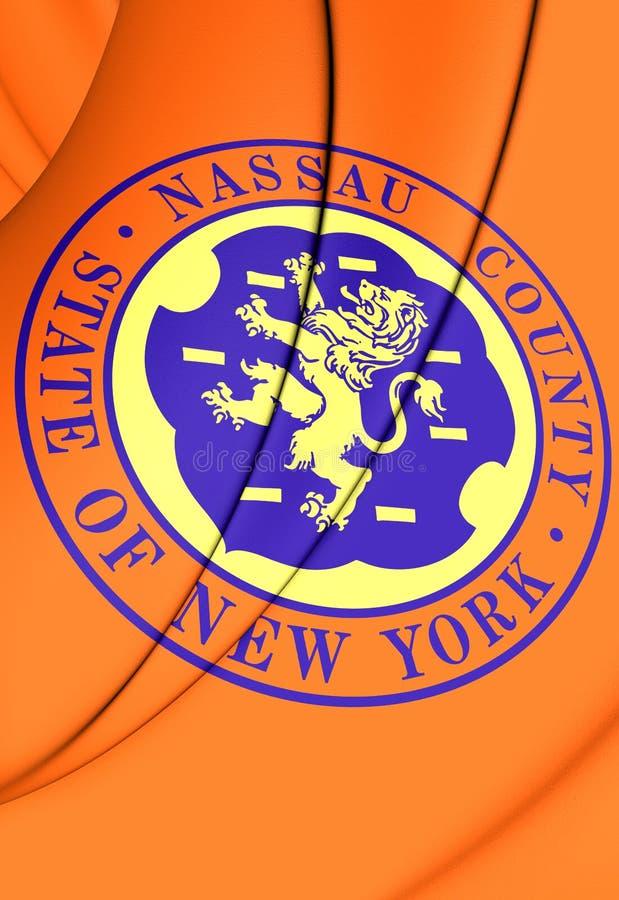 Flag of Nassau County New York, USA. 3D Flag of Nassau County New York, USA royalty free illustration