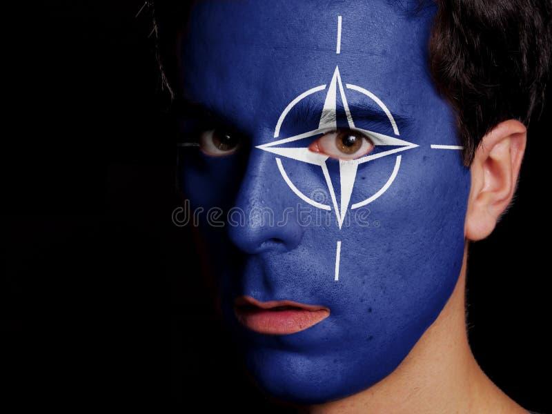 Flag of NATO royalty free stock photo