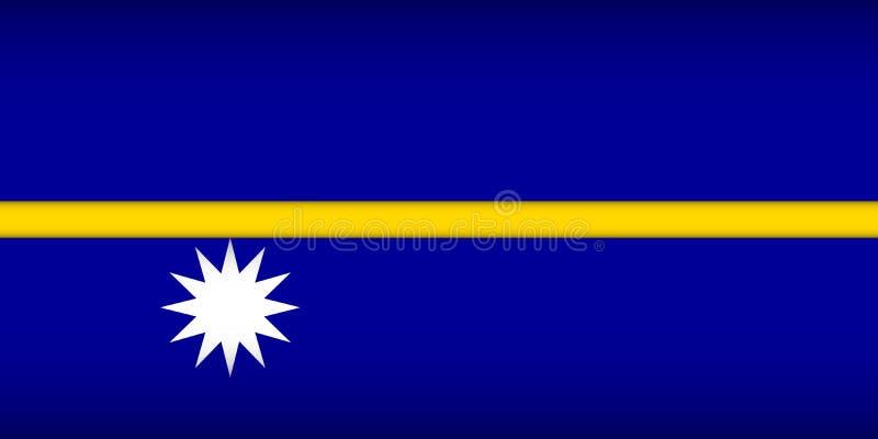 Flag of Nauru. Vector illustration. Patriotic background royalty free illustration
