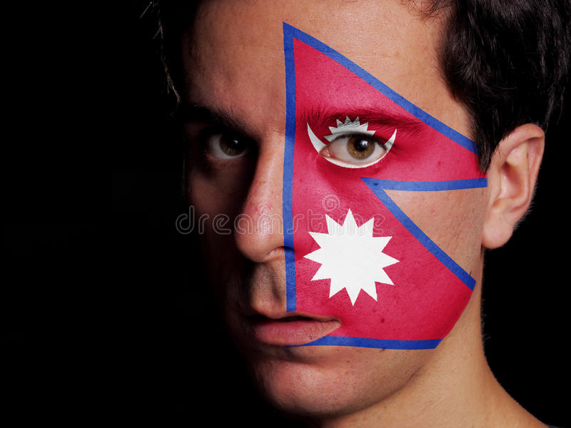 Flag of Nepal stock photos