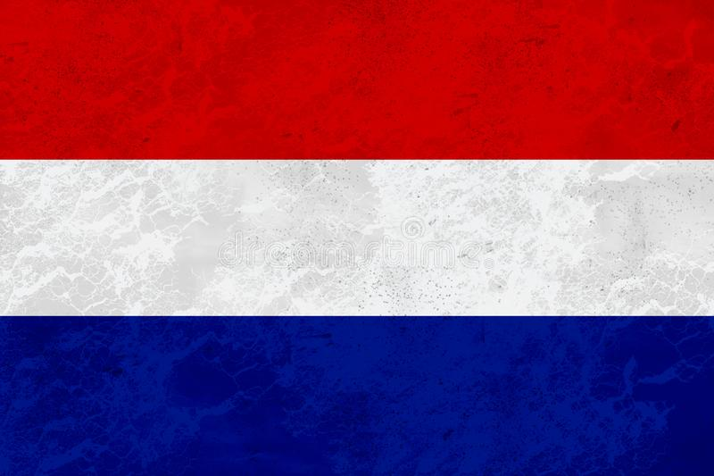 Flag Netherlands - marble texture stock image