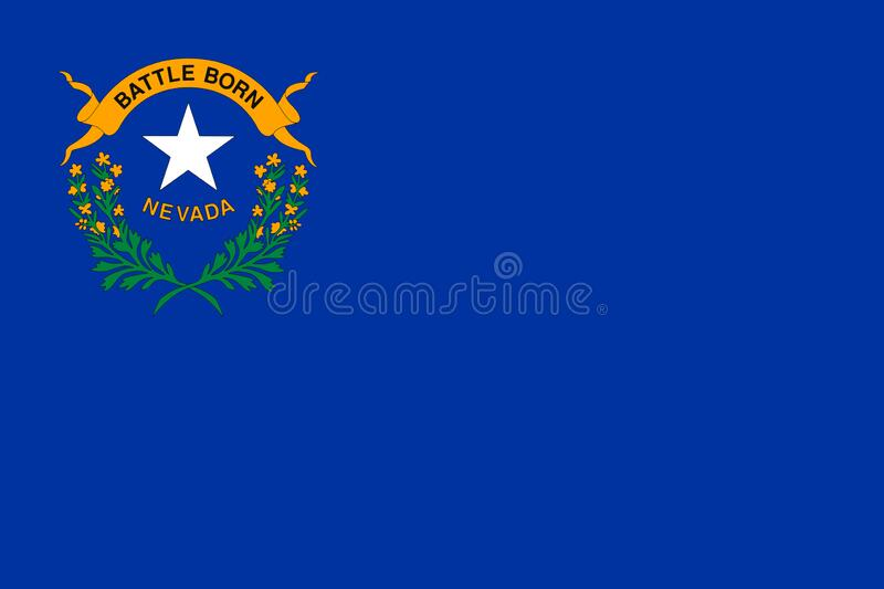 Flag of Nevada. State of Nevada Flag royalty free stock photo