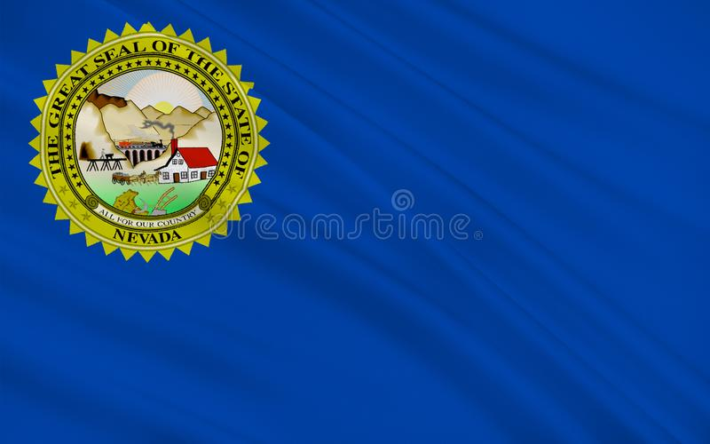 Flag of Nevada, USA stock illustration