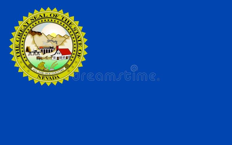 Flag of Nevada, USA royalty free stock photo