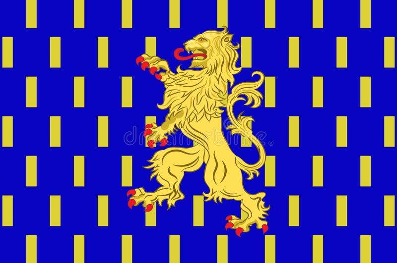 Flag of Nevers in Nievre in Burgundy, France. Flag of Nevers is the prefecture of the Nievre department in the Bourgogne-Franche-Comte region in central France royalty free illustration