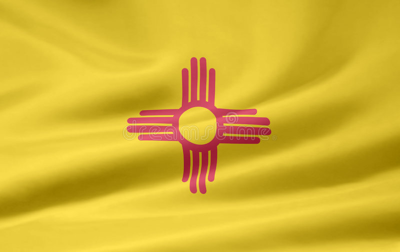Download Flag of New Mexico stock illustration. Image of blue, patriot - 5968239
