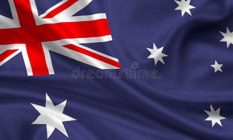 Flag of New Zealand. 3d rendered flag of new zealand