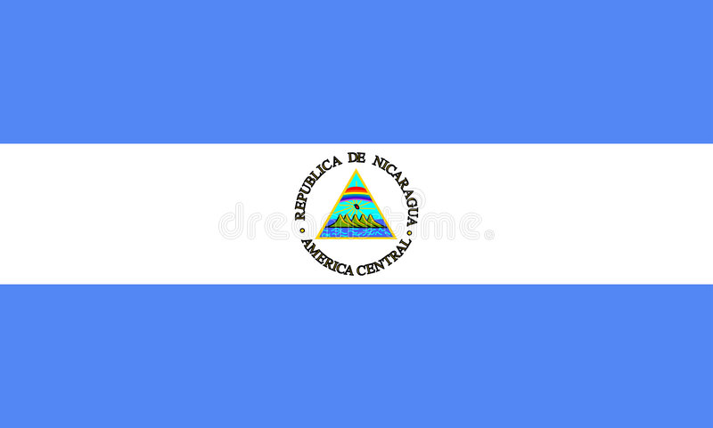 Flag of Nicaragua stock illustration