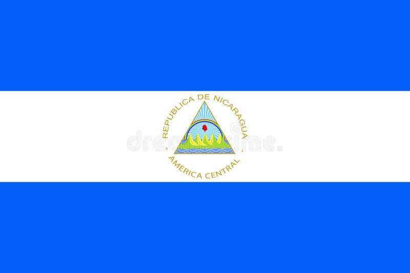 Flag Nicaragua flat icon stock illustration