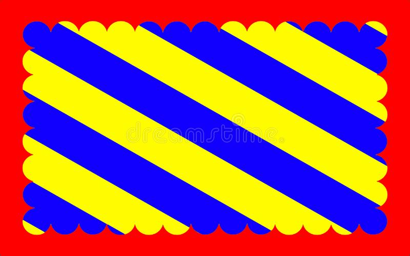 Flag of Nievre, France. Flag of Nievre is a department in the region of Burgundy in the centre of France named after the River Nievre vector illustration