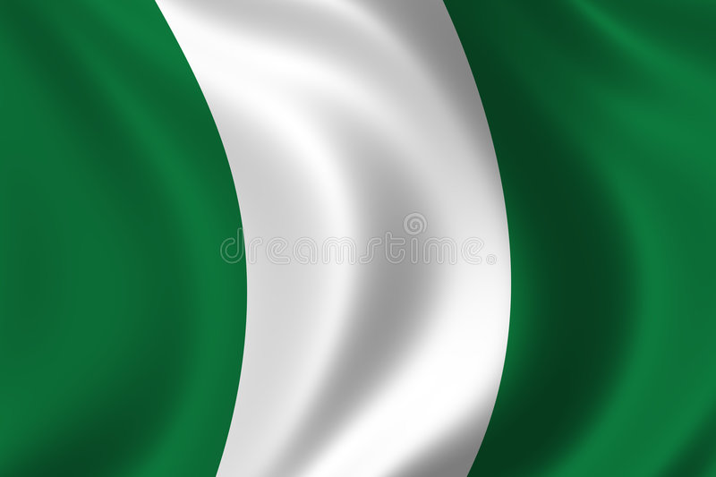 Flag of Nigeria royalty free illustration