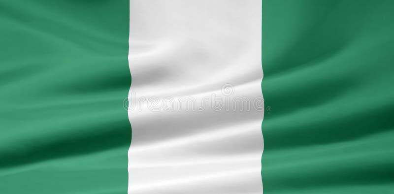 Flag of Nigeria royalty free stock photos