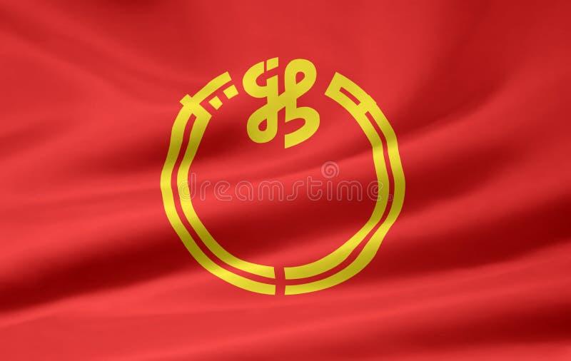 Flag of Niigata - Japan stock photography