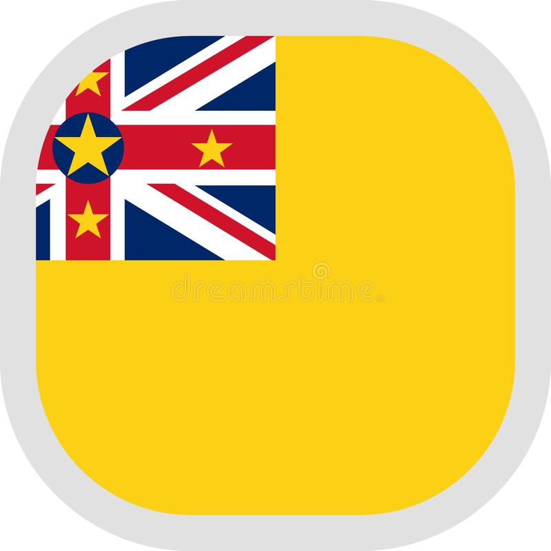Icon square shape with Flag royalty free illustration