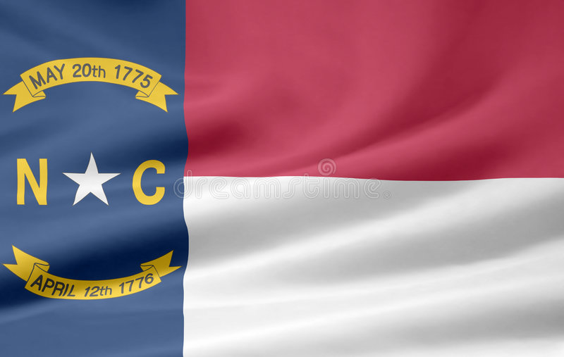 Flag of North Carolina royalty free stock images