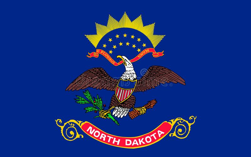 Flag of North Dakota, USA. Flag of North Dakota is the 39th state of the United States royalty free stock image