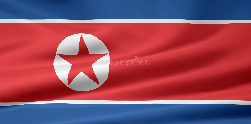Flag of North Korea stock photos